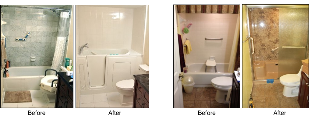 Perfect Tub To Shower Conversion Before And After Surprise Az