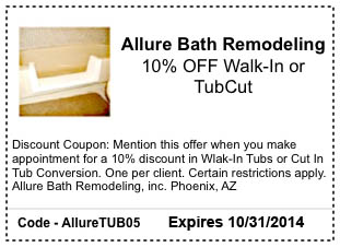 walk in tub coupon