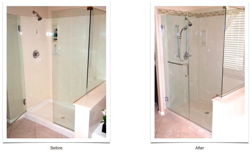 shower before and after allure bathroom remodeling create your custom shower with new york sash