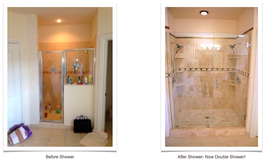 Shower Remodel Before and After Phoenix