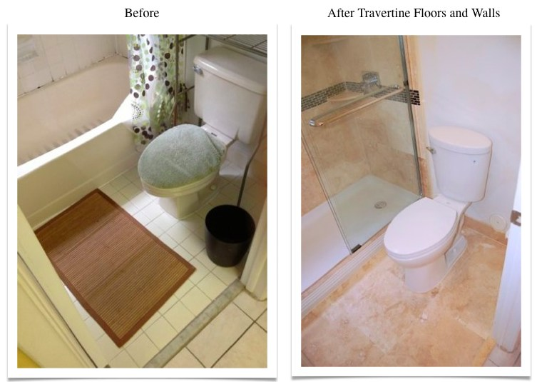 Travertine Transformation Bathroom Remodel-1