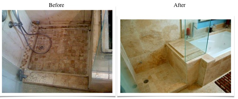 Travertine Transformation Bathroom Remodel-10