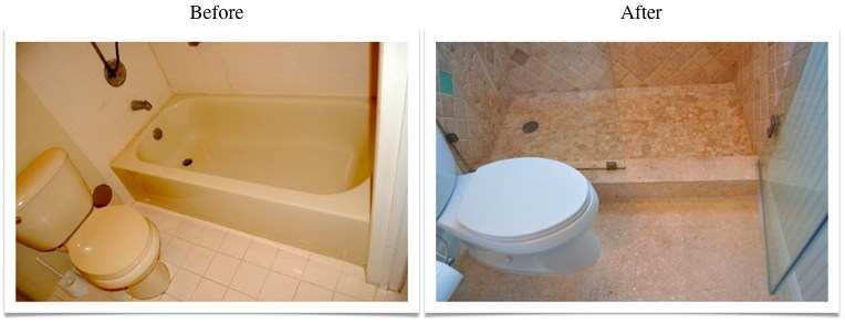 Travertine Transformation Bathroom Remodel-14