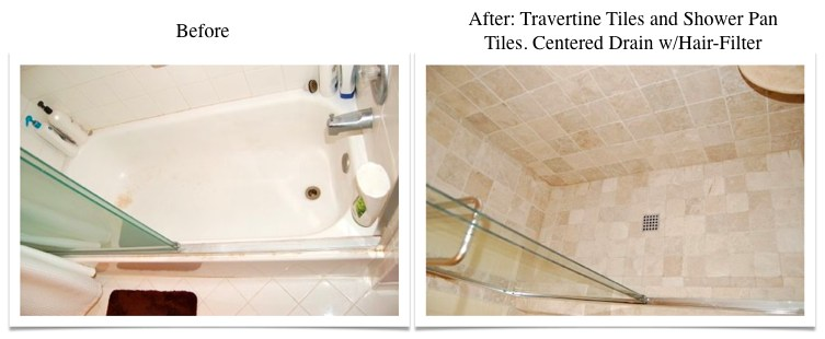 Travertine Transformation Bathroom Remodel-15
