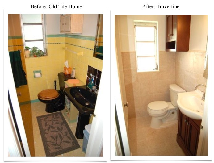 Travertine Transformation Bathroom Remodel-7