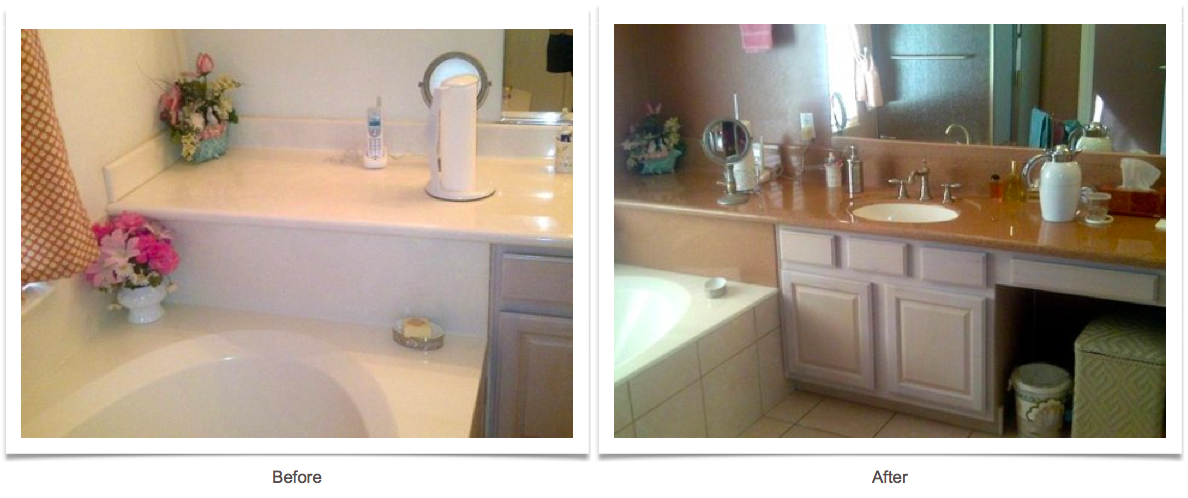 Vanity before and after photos