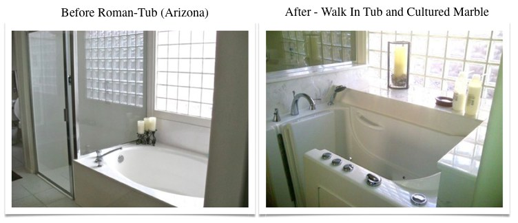 before after walk-in tub