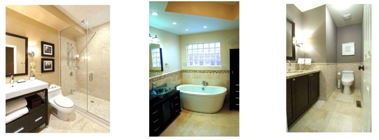 marble and natural stone tile bathrooms
