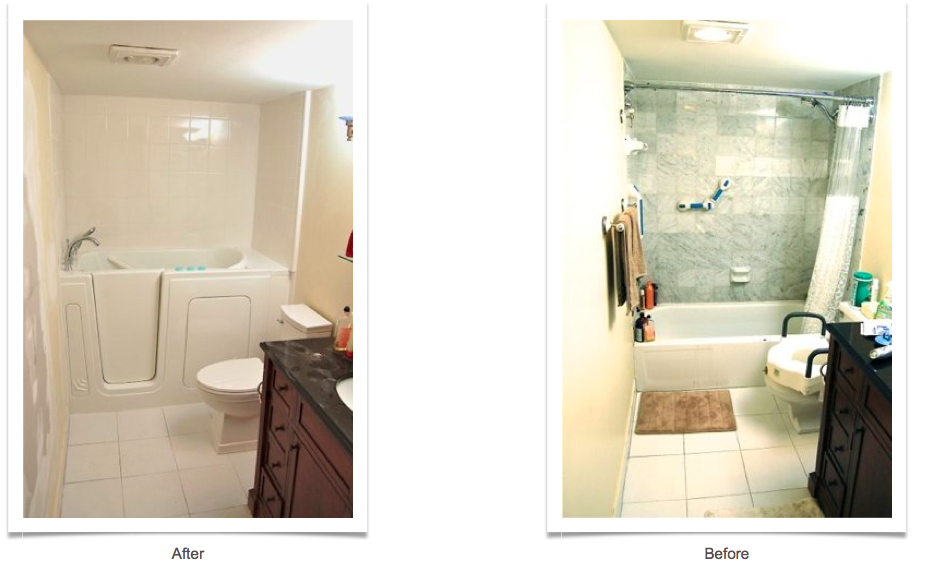 walk-in tubs before and after