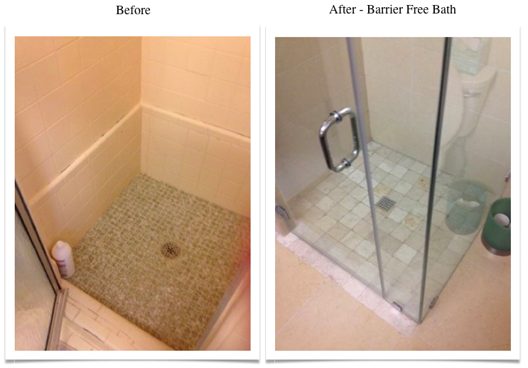 whole bath remodel before-after