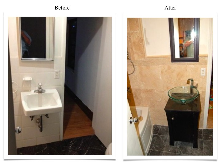 whole bath remodel before and after