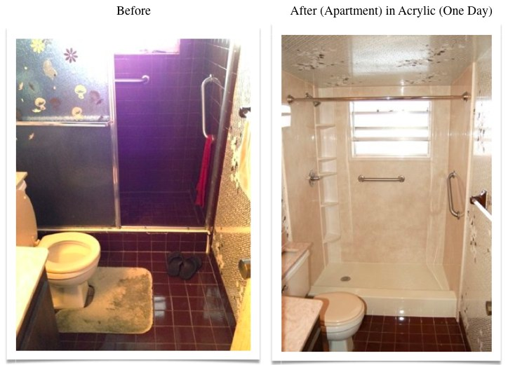 whole bath remodel-before and after