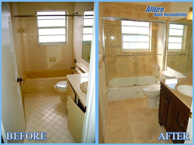 Bathroom Remodeling Scottsdale AZ Allure Baths Kitchens - Bathroom remodel before and after pics