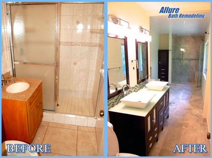 Shower Remodeling Before & After Scottsdale AZ