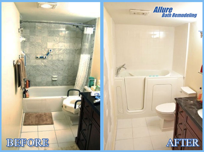Walk In Tub Remodeling Before & After Scottsdale AZ