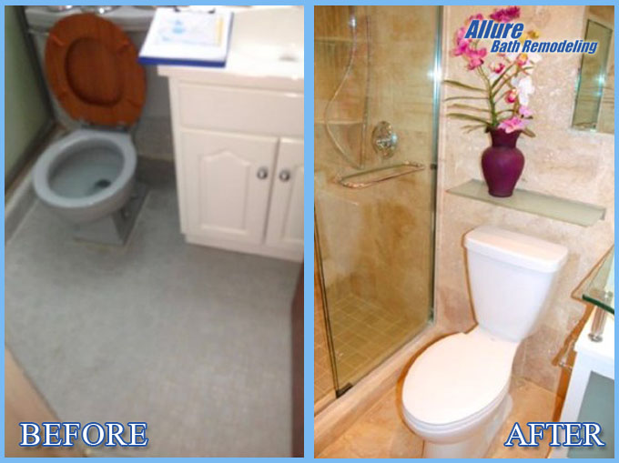 Toilet Remodeling Before and After Glendale